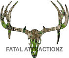 Camo Deer Skull S9 Vinyl Sticker Decal Hunting Big Buck trophy whitetail rack