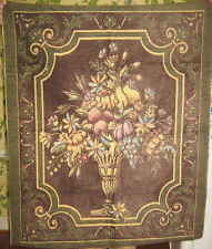 Arrangement of Fruit & Flowers Unfinished Tapestry 35X44 Gold Wine Choc ON SALE