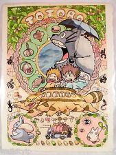 Poster Totoro Ghibli My Neighbor Japanese Promo Movie Cd Miyazaki Anime paper a