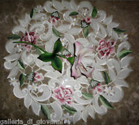 """Royal Rose Lace  Doily Flower Floral  15"""" Round  Roses"""