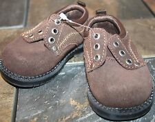r- SHOES BABY SZ 2 BR LEATHER LOAFERS JUST LIKE THE BIG BOYS