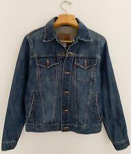 OLD NAVY Men's Denim Jean Jacket Sz S Med Wash Trucker Button Front