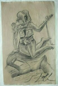 Salvador Dali beautiful drawing pencil graphite hand signed