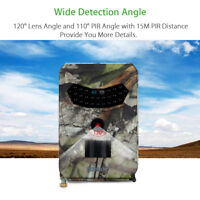12MP 1080P HD 120° Wide Angle Hunting Camera PIR Infrared Game Trail Camera