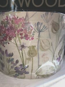 NEW LAMPSHADE LIGHTSHADE HANDMADE IN VOYAGE HEDGEROW LINEN FABRIC