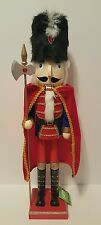 "Soldier Nutcracker 26"" Red Blue Gold Red Cape Christmas Holiday Decor"