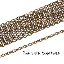 10m COPPER TONE 3 x 2mm CLOSED CABLE NECKLACE PENDANT FINDING CHAIN JEWELLERY