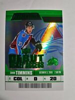 2019-20 UD Credentials Debut Ticket Access Green Conor Timmins 06/25 Avalanche