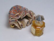 "Vintage sealed Miniature L'ELU Perfume by MARQUAY, 1 1/2"" high in Satin Sack"