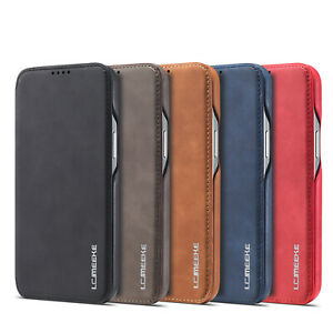 Case For iPhone 13 Pro Max 12 Mini 11 7 Xr Luxury Slim Leather Flip Wallet Cover