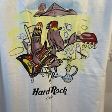 Vintage Hard Rock Cafe White Cairo Egypt T-Shirt Large Camel