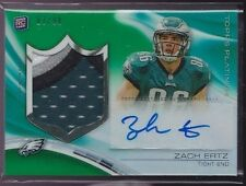 2013 Topps Platinum Green Refractor Zach Ertz Auto 4 Color Patch Rc Srl # to 99