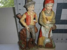 """8 1/2"""" Hunt and Fish Old Man and Woman Figurines"""