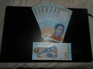 paper money  ,  ,  venezuela lot of 10 ..........   2 BOLIVARES LETTER L