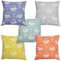 Narvik Birds Scandinavian Fryetts Scandi Fabric Cushion Cover
