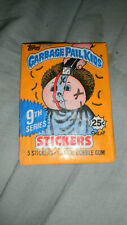 Garbage Pail Kid Stickers 9th series 1 unopened pack