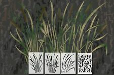 Spray Paint Camouflage Stencils Camo Jon Duck Boat Hunting CATTAIL 4 PACK SET