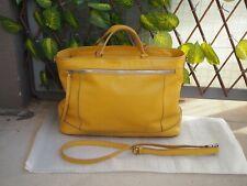 Bag /Sac en cuir de vachette Le Tanneur modèle insouciante Jaune poussin Grand