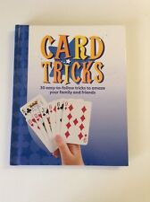 Card Tricks by James Weir, Hard Cover Book - 30 easy tricks, illustrated