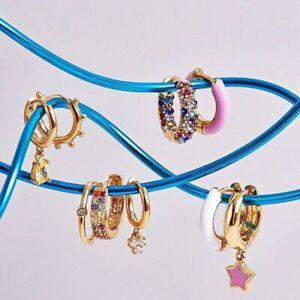 Earrings Orecchini A Cerchio Moda Donna Elegante Dichiarazione Orecchini Huggie