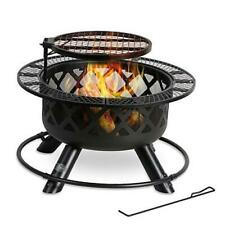 New listing Wood Burning Fire Pit, 32 Inch Outdoor Backyard Patio Fire Pit with 18.7 Inch