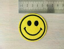 3 Smiley Face Embroidered Iron On Transfer Sew On Patch Clothe Bag T Shirt Badge