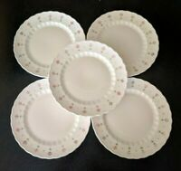5 RARE Vintage METLOX VERNON WARE  PINK LADY  DINNER PLATES MID CENTURY MODERN