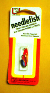 Luhr Jensen Needlefish 1051-000-0594 Sz 0 Red Magic/Fish Scale with Flipper Tail