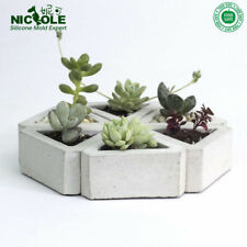 3D Flowerpot Silicone Mold Handmade Triangular Concrete for Succulent Plants DI
