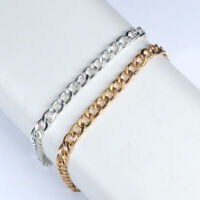 Men Woman Gold/Silver Plated Chain Punk Necklace Mens Jewelry Hip-Hop Party Gift