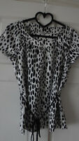 BHS Petite Women Top Black & White Size UK 8, EU 36 RRP £22
