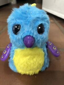 Blue Purple Hatchimal Bird Battery Operated Toy Lightly Used