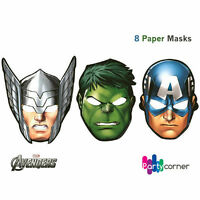 AVENGERS PARTY SUPPLIES PAPER MASK 8 IN A PACK