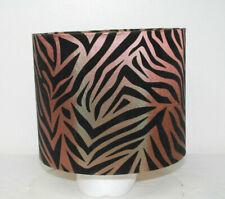 Tiger Print Velvet Drum Lampshade Lamp Shade 11 Wide 9 High Zebra Animal print