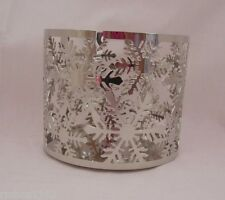 Bath & Body Works Candle Sleeve Holder Holds 14.5 oz Candle Snowflake New