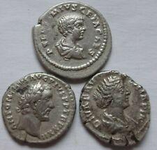 Lot of three Roman Silver Denarius.    474