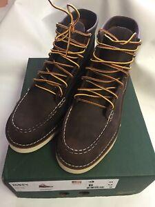 "Danner Boots Men's 6"" Bull Run Moc Toe Brown 15563 Sizes 9-12 D & EE"