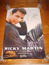 """Ricky Martin Livin' La Vida Loca 1999 Tour Poster 34"""" x 22"""" Facsimile Signature"""