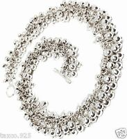 TAXCO MEXICAN STERLING SILVER DECO BEADED BEAD NECKLACE MEXICO