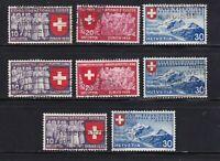 Switzerland stamps # 247 - 255, used, no 254,  1939, SCV $20.75