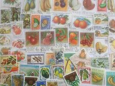 100 Different Fruit and Vegetables on Stamps Collection