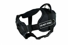 Dean & Tyler Black Reflective Padded Police Duty Dog Harness Do Not Feed, Small