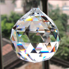 Shine Clear Crystal Chandelier Ball Rainbow Sun Catcher Wedding Decor Lamp CTY