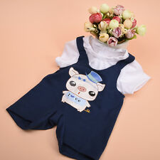 Handmade Doll Clothes Hat+T-shirt +Suspenders for 18 inch  Girl Doll Hot