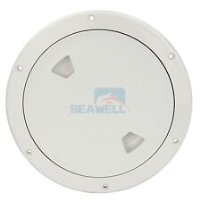 "8"" Marine Boat Inspection Hatch RV Round White Deck Plate Access Cover"
