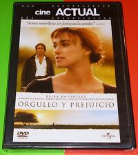 ORGULLO Y PREJUICIO Pride and Prejudice - English Español DVD R2 Precintada