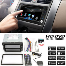 "6.2"" HD Car 2Din DVD Stereo Dash Player Bluetooth Radio FM GPS Sat Nav NA Maps"