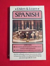 Listen & Learn Spanish by Dover 90 minute audio cassette and manual english NEW!