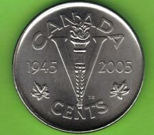 """2005 CANADA 5c COIN.THE """"VICTORY""""COIN.MINT UNCIRCULATED."""