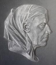 Irene Gareis Kreidezeichnung Porträt einer alten Frau 1929 Studienarbeit Loket
